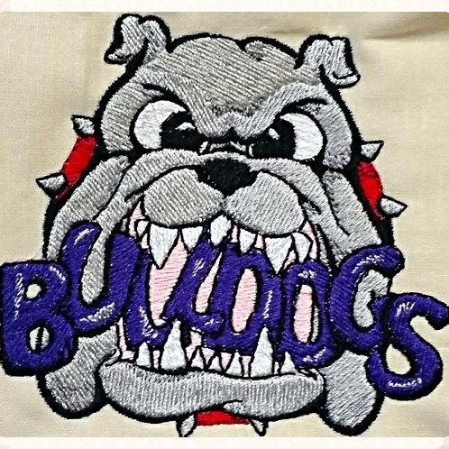 "Embroidered Bulldog 4"" x 4"""