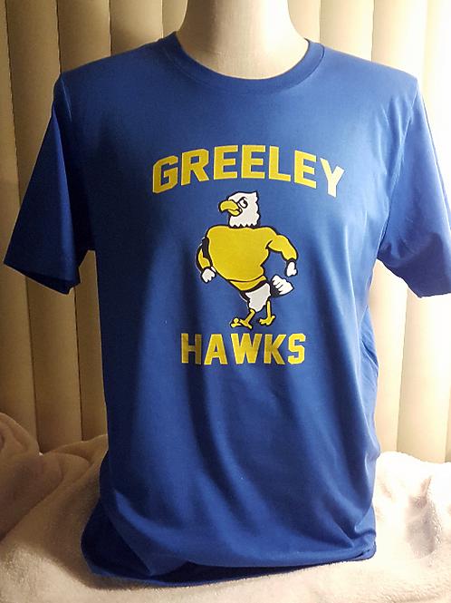 Greeley Hawks Royal Unisex Tee