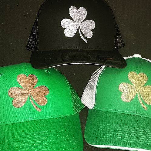 Metallic Shamrock Caps