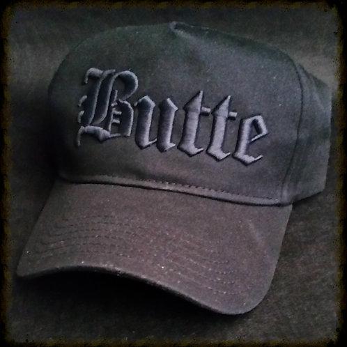 Black tone-on-tone Butte cap