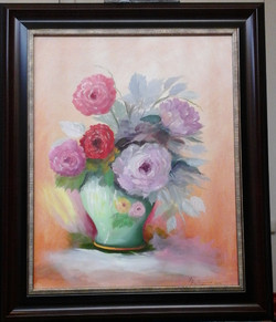 Roses In A Green Vase- a study  NFS