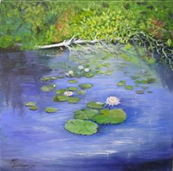 Lily Pad Pond   (Framed)