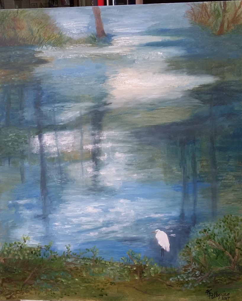 On Reflections, With Only One Egret