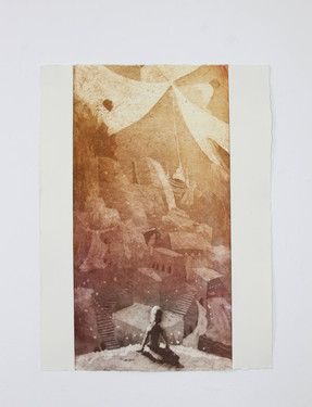"""""""Circus"""" Aquatint etching by Jake Silvestro 2011"""