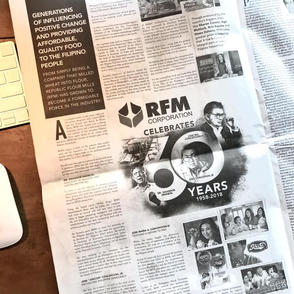 RFM 60th Anniversary Newspaper Ad