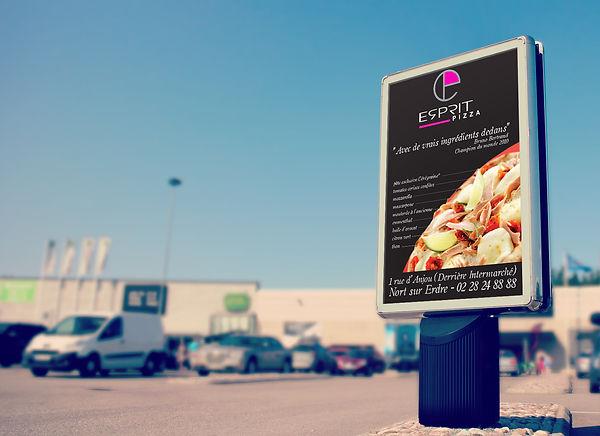 Création visuel, affiche, print - Esprit Pizza - Smole Studio - Nantes, Savenay