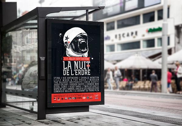 Création visuel, affiche, print - Festival Nuit de l'Erdre - Smole Studio - Nantes, Savenay
