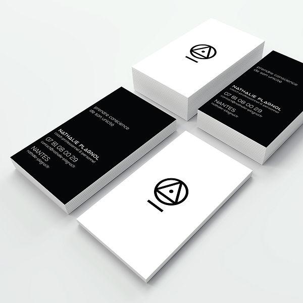 Création cartes visite - Nathalie Plagnol, coach de vie - Smole Studio - Nantes, Savenay
