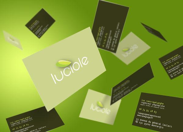 Création cartes visite - Luciole, paysagiste - Smole Studio - Nantes, Savenay