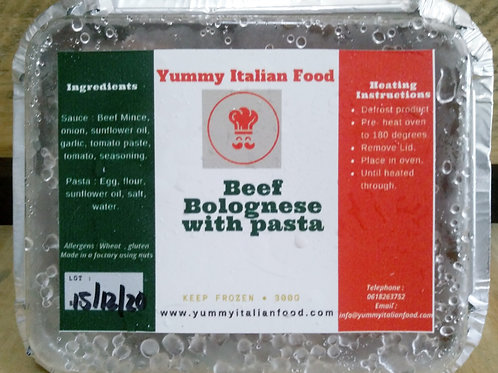Beef Bolognese with Pasta 350g
