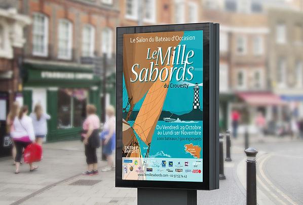 Création visuel, affiche, print - Le Mille Sabords - Smole Studio - Nantes, Savenay