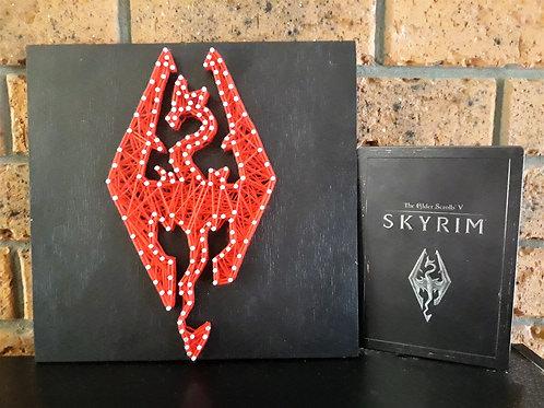 Skyrim Logo String Art
