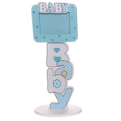 Cadre photo bébé (bleu)