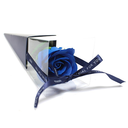 Rose Unique en Savon - Bleue