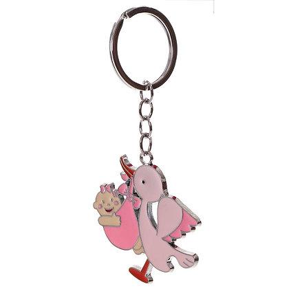 Porte clés cigogne