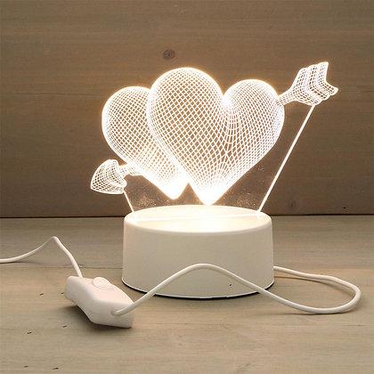 Deux coeurs LED