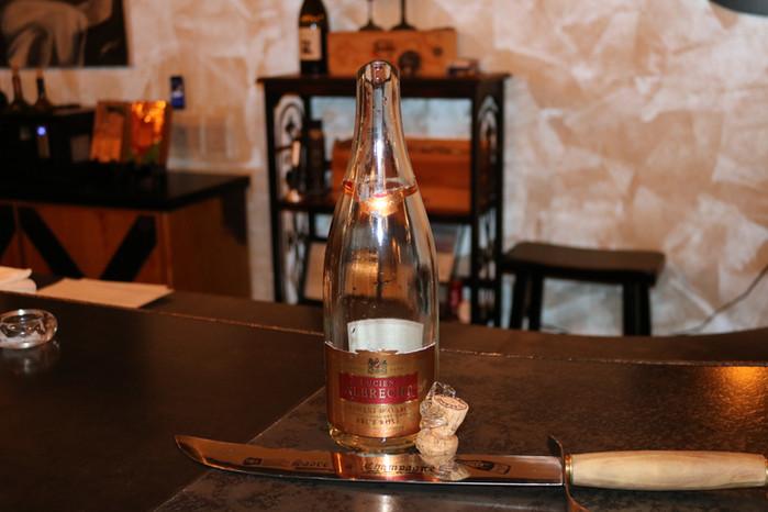 Sabered Champagne Bottle