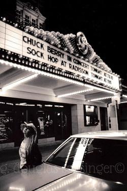 Chuck Berry marquee_Austin '87