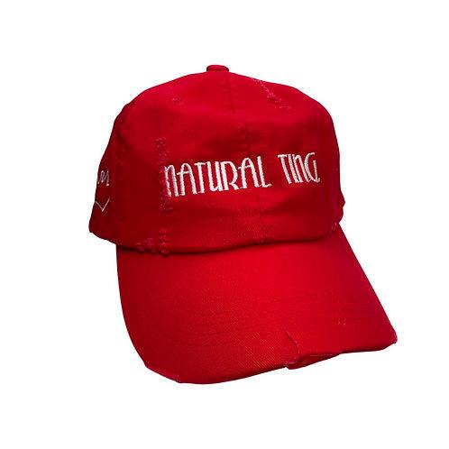 'Natural Ting' Distressed Dad Hat