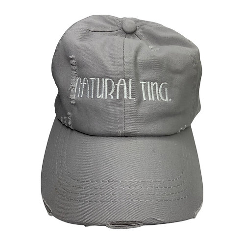 Natural Ting' Distressed Dad Hat