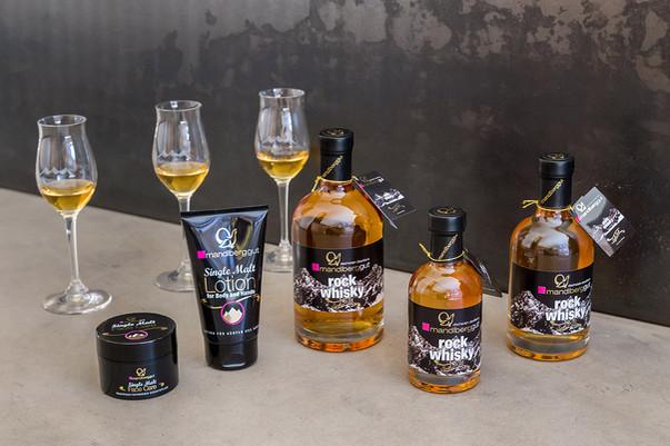 Rock Whisky Sortiment Dachstein Destillerie