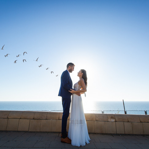 Dikla & Yoav wedding at sunset