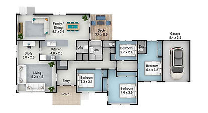 Real Estate Floorplans - colour