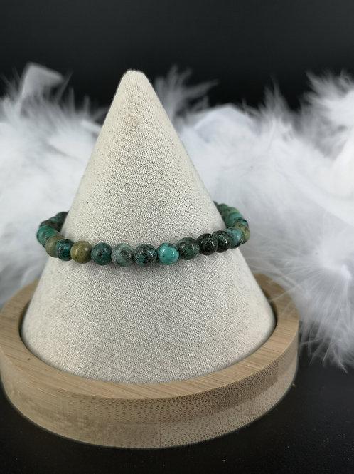 Bracelet turquoise africaine 6mm