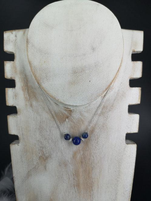 Collier Lapis-lazuli argent