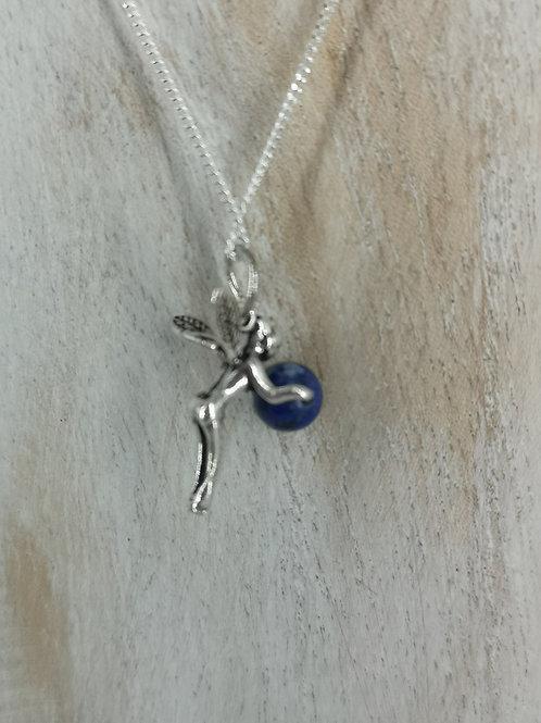 Collier fée Lapis-lazuli argent