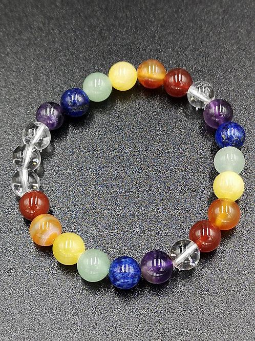 "Bracelet perles 8mm ""chakras"""