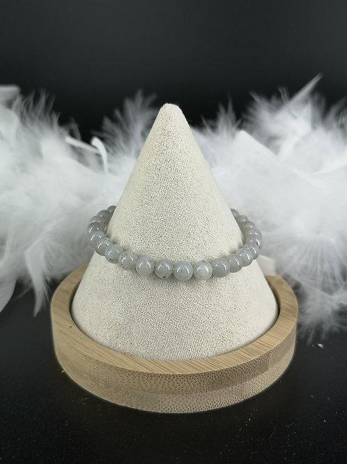 Bracelet pierre de lune grise