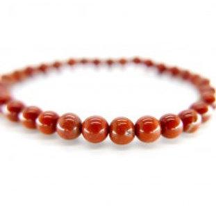 Bracelet jaspe rouge 6mm
