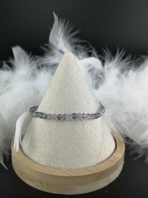 Bracelet fluorite 4mm