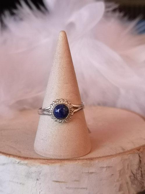 Bague argent lapis lazuli t56