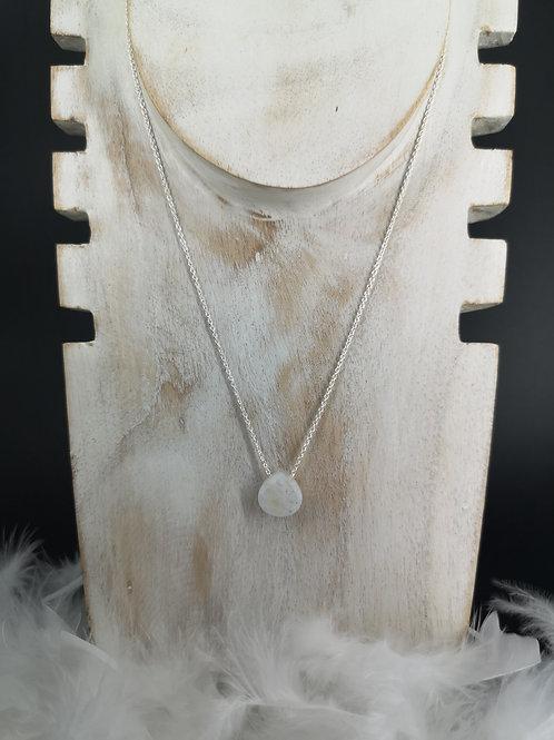 Collier pierre de lune argent