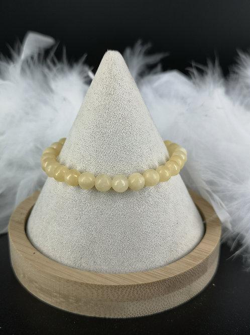 Bracelet calcite jaune 6mm