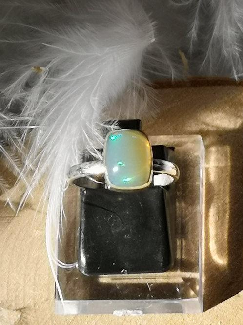 Bague argent opale réglable t50 au t54