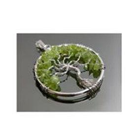 Pendentif arbre de vie Péridot