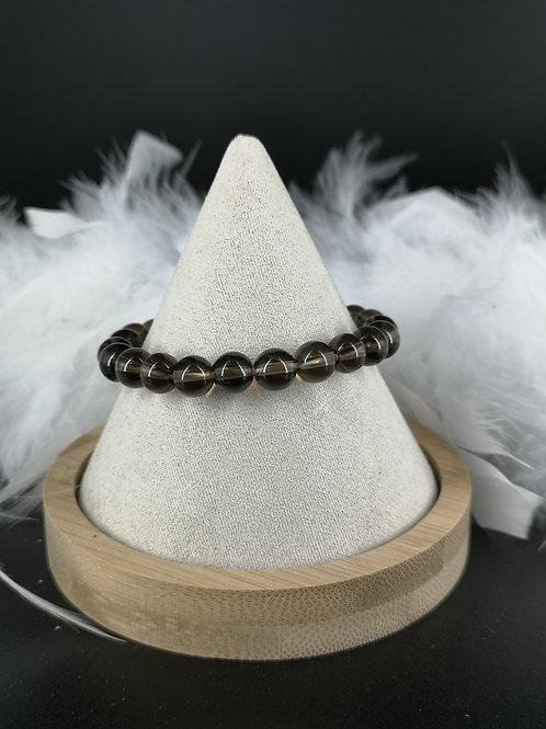 Bracelet quartz fumé 8mm