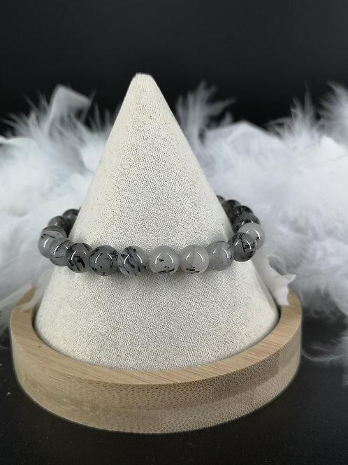Bracelet quartz tourmaline 8mm