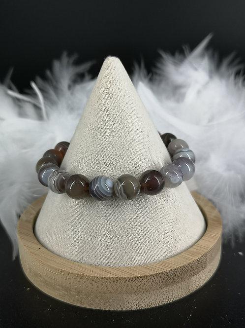 Bracelet agate 10mm