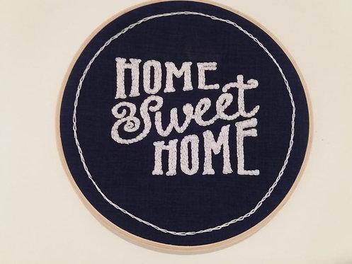 """Quadro de Bastidor """"HOME SWEET HOME"""""""