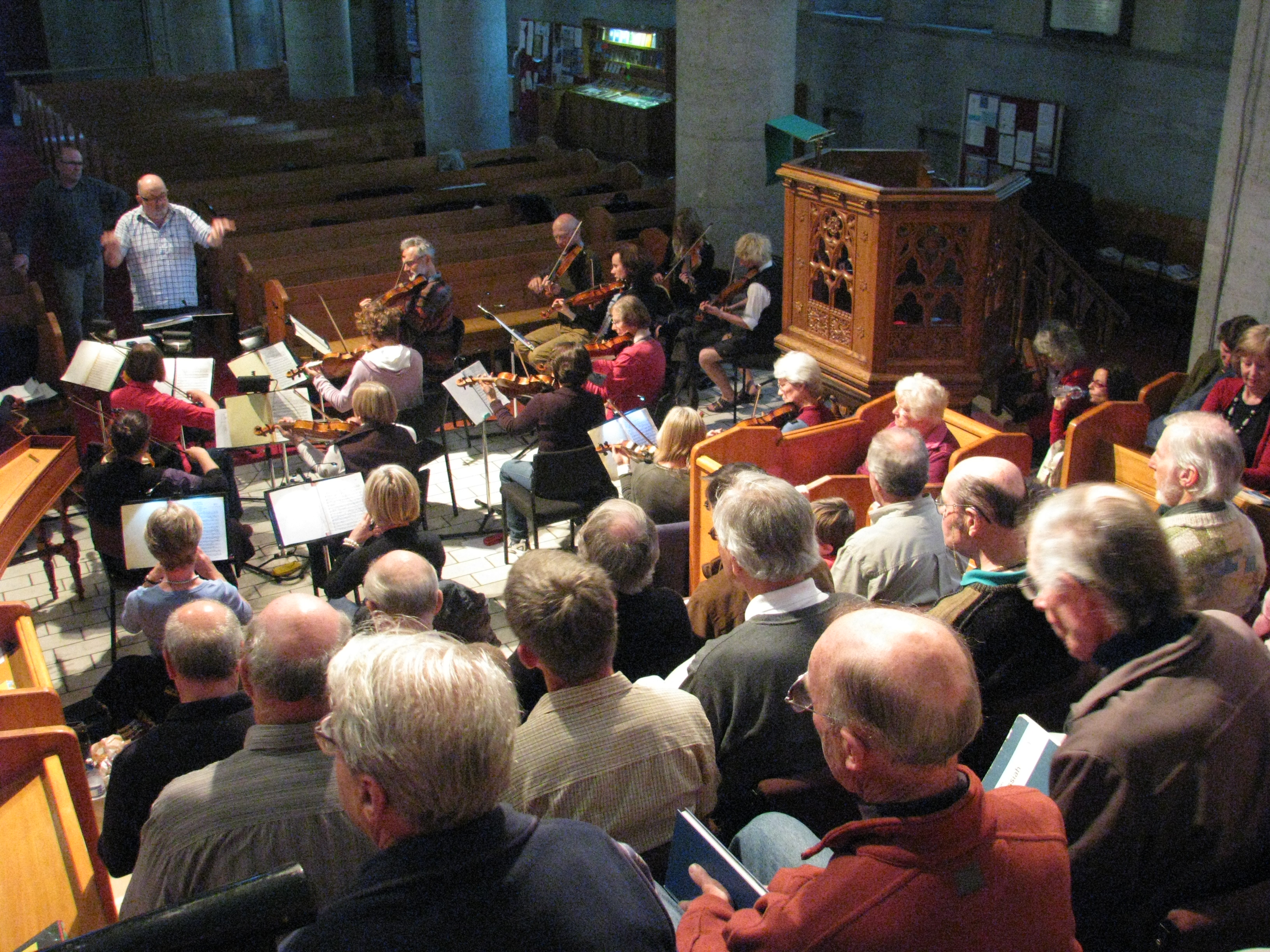 Final rehearsal for Mozart - 2009