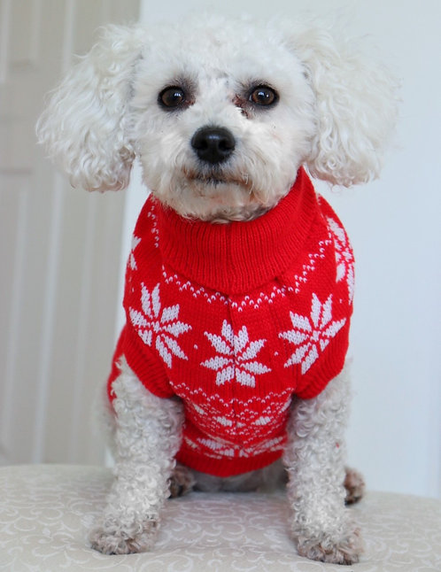 Snowflake Dog Christmas Jumper