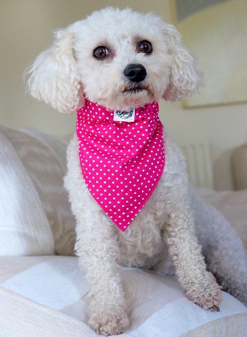 Pink Polka Dog Bandana