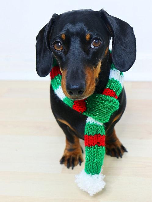 Christmas Tree Dog Scarf