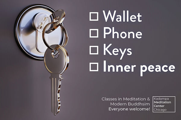 Wallet, Phone, Keys, Inner Peace.