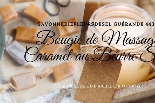 Bougie de massages caramel au beurre salé