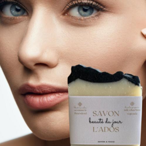 SAVON L'ADOS talc &charbon vegetale